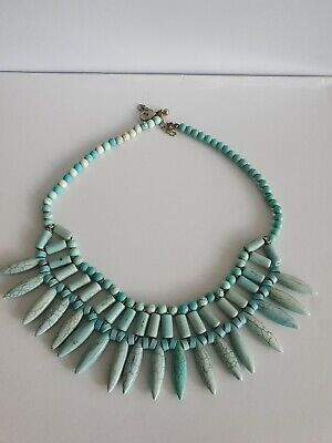 £5.55 • Buy Turquoise Native American Style Statement Necklace