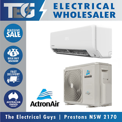 AU1100 • Buy ACTRON AIR Split System Reverse Cycle Air Conditioner Aircon Cooling Heating