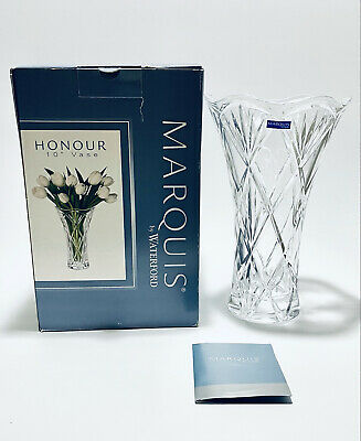 """£62.30 • Buy Magnificent New In Box 10"""" Tall Vintage Marquis Waterford Crystal Flower Vase"""
