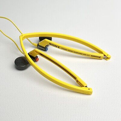 AU39.93 • Buy Sony Sports MDR-A15 Lightweight Vertical In The Ear Foldable Stereo Headphones