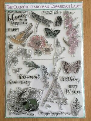 £1.70 • Buy Country Diary Of An Edwardian Lady Clear Acrylic Stamp Set - Flowers/Birthday