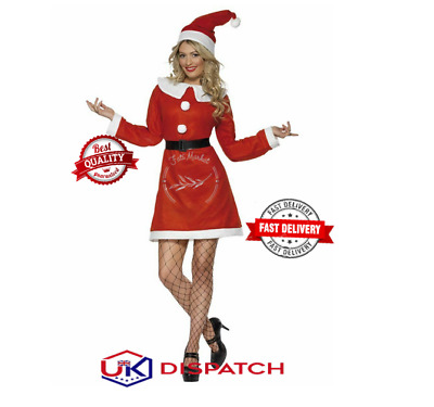 £14.99 • Buy Mrs.Santa Claus Fancy Dress Womens Costume Outfit Xmas Adult Red