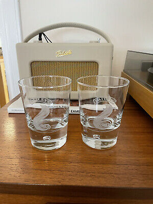 £4.99 • Buy 2 X Baileys Glasses Heavyweight Glass Bottoms. Immaculate Condition.
