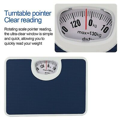 £12.99 • Buy 130 Kg Accurate Mechanical Dial Bathroom Scales Weighing Scale Body Weight Scale