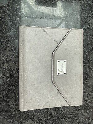 £10 • Buy Michael Kors Envelope Style Silver Leather Ipad Case