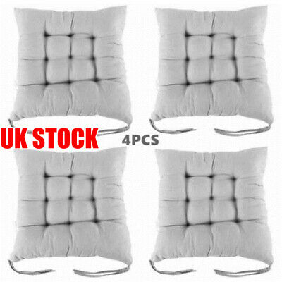 £13.99 • Buy 4X Set Square Thicker Cushions Chair Seat Pad Dining Room Garden Kitchen School