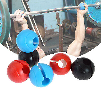 AU24.79 • Buy 1Pair Thick Fat Silicone Ball Barbell Grips Home Arm Builder Dumbbell Hand