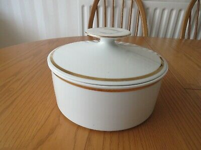 £10 • Buy Thomas Germany China White With Thin Gold Band Covered Tureen Serving Dish.