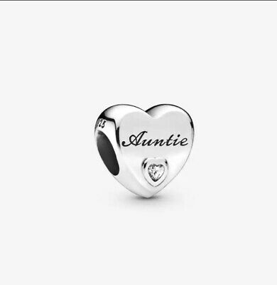 AU27 • Buy S925 Sterling Silver Auntie's Love Charm By Pandora's Star