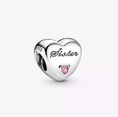 AU27 • Buy S925 Sterling Silver Sister's Love Charm By Pandora's Star