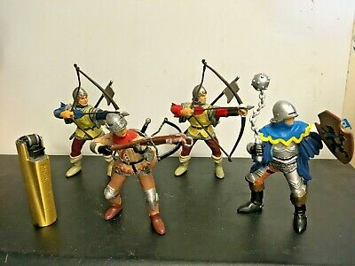 £14.50 • Buy Papo Archers Fantasy Medieval Mythical Knight Figures X4 Large Scale