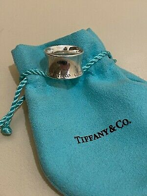 £175 • Buy Tiffany & Co. Sterling Silver 1837 Collection Wide Band Ring Size 5