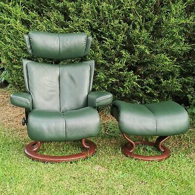 £649 • Buy Ekornes Stressless Magic Recliner Swivel Chair Leather Delivery Possible