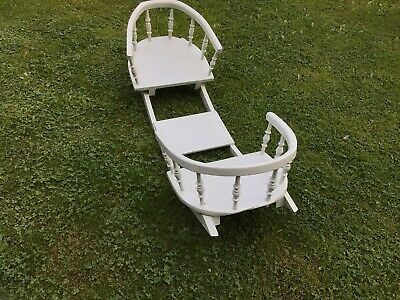 £40 • Buy Old Wooden Double Rocker For Toddlers / Toys