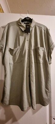 £4 • Buy Jersey Collared Relaxed Short Sleeve Shirt Size 18