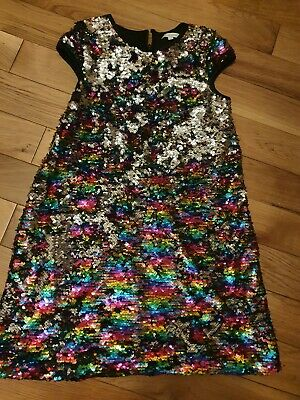 £5.99 • Buy Christmas Party Sequin Dress Age 11 Blue Zoo