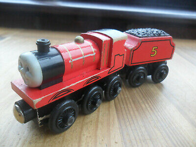 £4.99 • Buy Thomas Tank Engine & Friends Wooden Train - JAMES - LEARNING CURVE - PLAYWORN