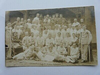£3.65 • Buy WW1 German Soldiers,.Large Group Of Wounded Recovering Men. Original Photo (43)