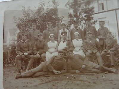£3.65 • Buy WW1 German Soldiers, Wounded, Nurses. Dated 1916, Written. Original Photo (44)