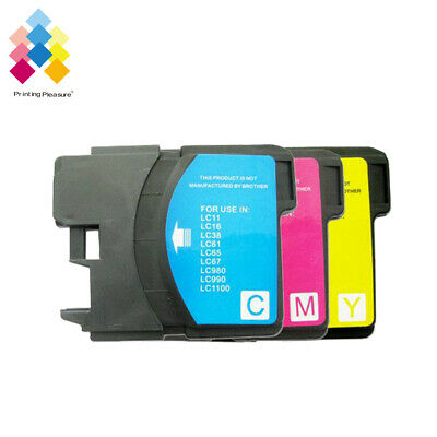 £4.49 • Buy 3CMY Ink Cartridge Fits Brother LC1100 DCP-395CN MFC-5895CW DCP-6690CW MFC-670CD