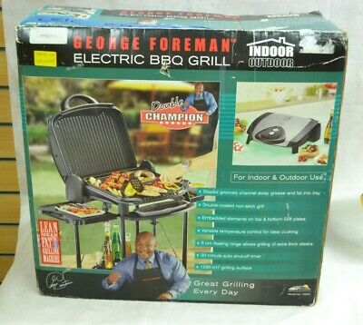 £19.99 • Buy George Foreman Electric Bbq Grill Indoor/outdoor ##leicl36