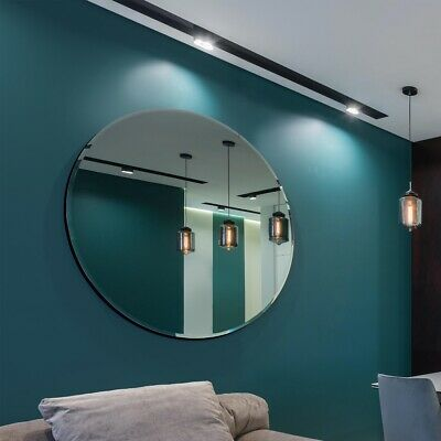 £173.99 • Buy Large Round Wall All Glass Bevelled Classic Round Mirror 120 X 120CM 4ft X 4ft