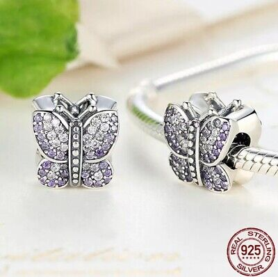 AU27 • Buy S925 Sterling Silver Sparkling Butterfly Charm By Pandora's Star