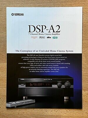 £4.50 • Buy Yamaha DSP-A2 Stereo Integrated Amplifier - SALES BROCHURE CATALOGUE ONLY