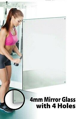 £65 • Buy Large Mirror Glass Gym Or Studio 4mm Thick Value 6ft X 4ft 183cm X 122cm 4 Holes