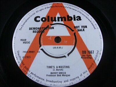 £80 • Buy BUDDY GRECO ~ Time's A Wasting ~ NR MINT ~ COLUMBIA DB 7667 ~ Mod Beat Dancer /
