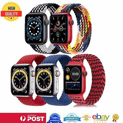 AU7.50 • Buy For Apple Watch Nylon Braided Band Strap For IWatch Serie 65 4 3 2 38/40 42/44mm