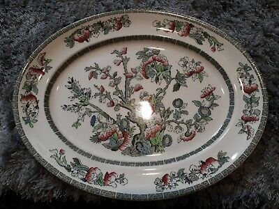£11.50 • Buy Vintage China Johnson Bros Oval Indian Tree Meat Plate