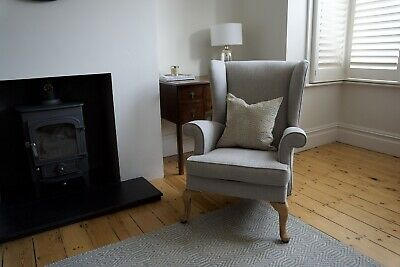 £14.40 • Buy Reupholstered Wingback Arm Chair Parker Knoll Style Chair Grey