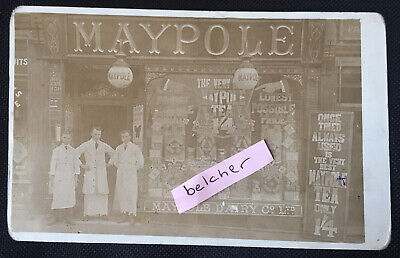 £15.99 • Buy C1908 Bolton Maypole Dairy Shop Front & Staff 224 Chorley Old Rd RP Postcard