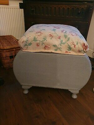£10 • Buy Vintage 1950s Sewing Box On Legs Stool Foot Rest Footstool Storage RETRO FLORAL