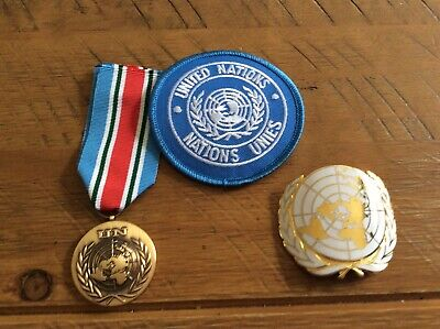 £12 • Buy United Nations  Medal, Cap Badge And Cloth Sleeve Badge