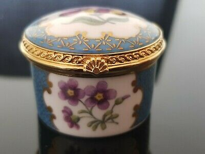 £14.99 • Buy Royal Worcester Floral Pill/Trinket Box Connoisseur Collection