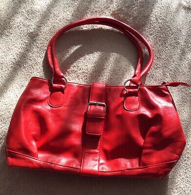 £1.30 • Buy DICE Red Handbag Leopard Pattern Lining Small Mark On Front Excellent Condition