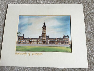 £4.99 • Buy Vintage University Of Glasgow Small Print By David Coupe