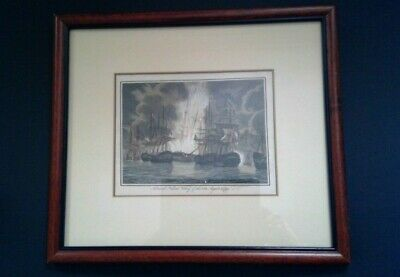 £32.99 • Buy Admiral Nelson's Victory Of The Nile, August 1798, Antique Engraving
