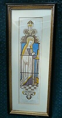 £29.99 • Buy St. Catherine , Winchester Cathedral,antique Print