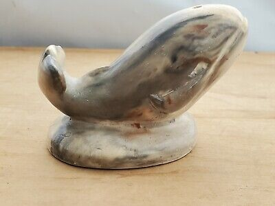 £55 • Buy Thorn Arts Canada Inuit Eskimo Hand Carved Soap Stone Whale Carving - Free P&P