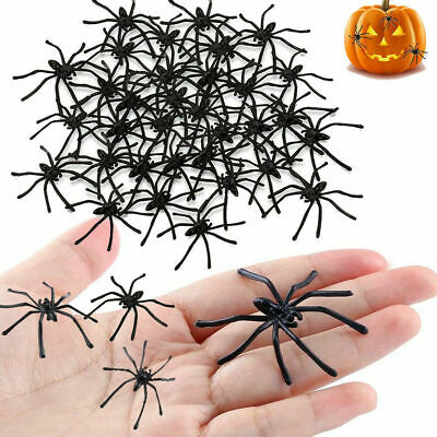 £2.99 • Buy Halloween Decorations 40 Pcs Spooky Scary Horror Black Plastic Spiders Insects