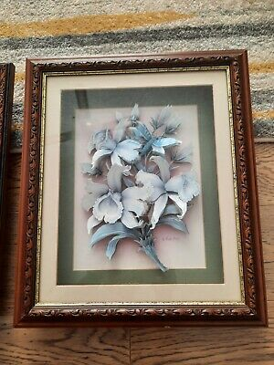 £25 • Buy Rob Pohl Decoupage Floral Framed Wall Art Pictures