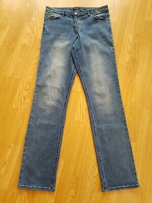 £19.99 • Buy LONG TALL SALLY DENIM Distressed Blue JEANS UK 18 W34 L36 Very Stretchy LTS Pant