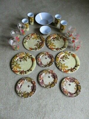 £10.50 • Buy 20 Piece Melamine BBQ/Picnic/Camping/Party Plate / Dish / Tumbler Set