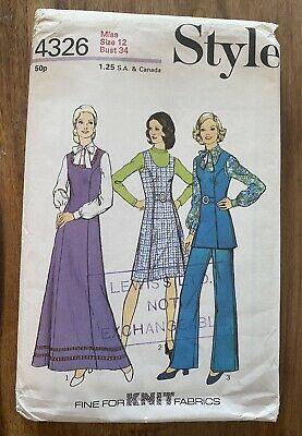 £2.10 • Buy Vintage 70s Sewing Pattern, Size 12, Style 4326