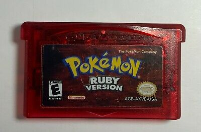 $75 • Buy Pokemon Ruby Version Authentic Cart Nintendo Gameboy Advance Tested Works