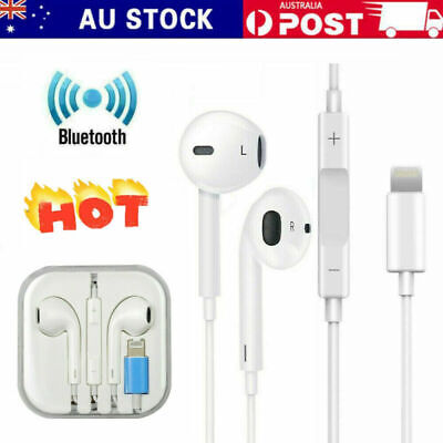 AU9.83 • Buy For Apple IPhone X Xs XR 7 8 11 12 Wired Bluetooth 8pin Earphones Headphones AU