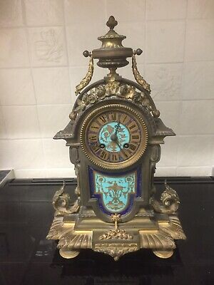 £235 • Buy Sevres Porcelain And Ormolu Antique French Clock Stunning With Signed Panels